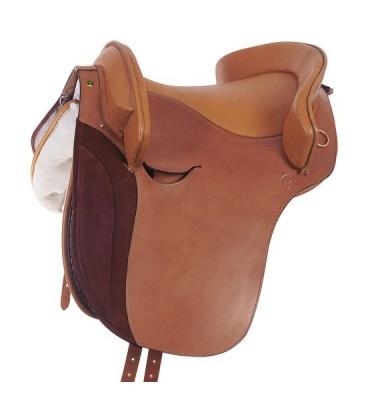 Leather country saddle Jerez