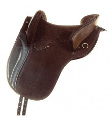Suede country saddle Marjoman Jerez