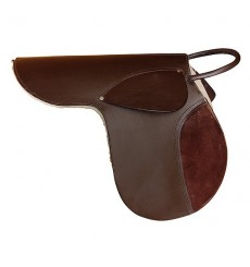 Complete kid saddle made of leather