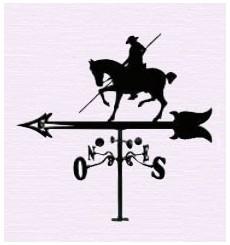 Horse pole weathervane