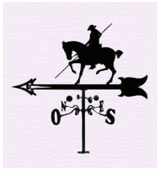 Horse pole weathervane