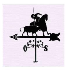 Spanish picador weathervane