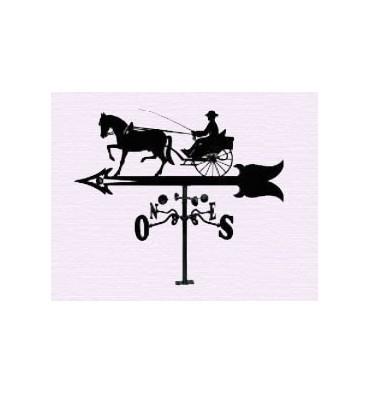 Horse buggy weathervane