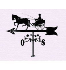 Horse buggy weathervane