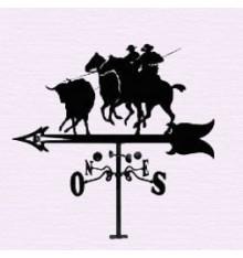 Bull and horses weathervane