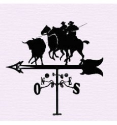 Bull and horses weathervane