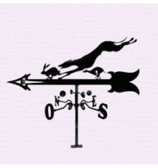 Greyhound and hare weathervane