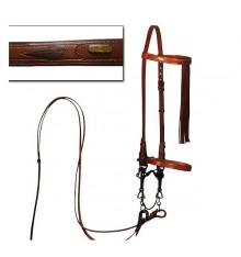Spanish bridle with reins, hand-sewn
