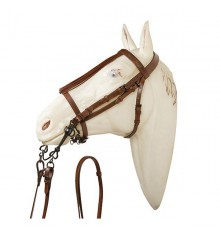 Jerezana bridle noseband with reins