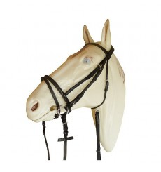 Bridle with flash noseband