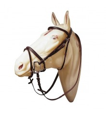 Raised bridle with rubber reins