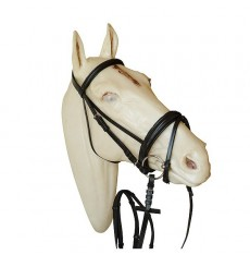 Padded bridle with rubber web reins