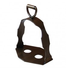 Dressage stirrups stainless steel aged