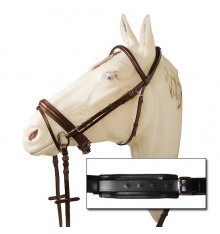Ergonomic Soft Bridle Swedish noseband closure