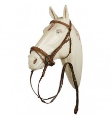 English Leather Bridle with swedish crank