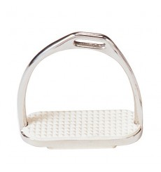 Stainless steel english stirrups offset
