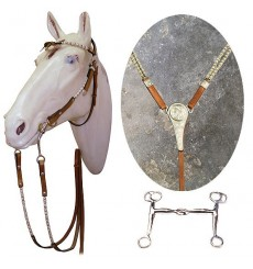 Set western bridle, breastplate and bit