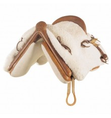 Vaquera Saddle (Mixed) Marjoman Mottled Sheepskin