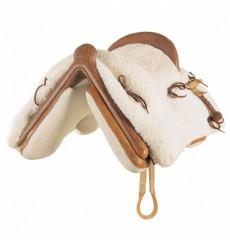 Mottled Sheepskin Mixta Vaquera Saddle