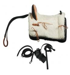 "Fiber Horse Saddle ""Vaquera"" Style. Lightweight"