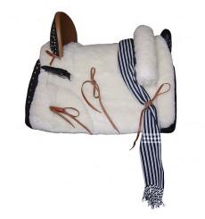 Cheap Embossed Mixed Vaquera Saddle