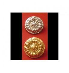 Brass cap badge Portuguese bridle: flower