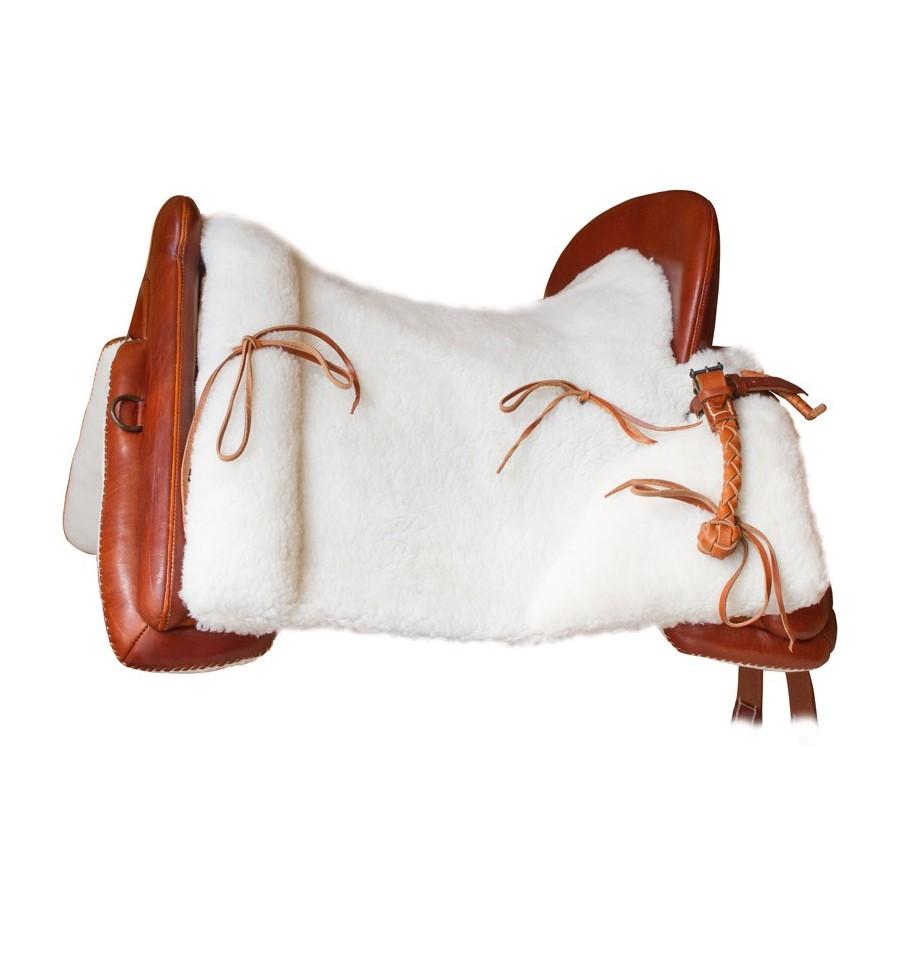 Selle Vaquera Marjoman peau de mouton synthu00e9tique - Saddles4sale