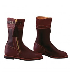 Short leather coutry boots