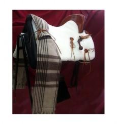 Vaquera Saddle natural sheepskin cover